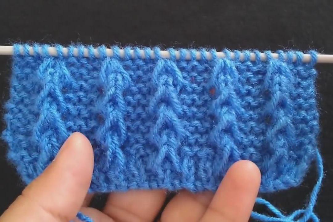 棒针编织教程,带你学习如何编织简单的毛衫花纹图案!
