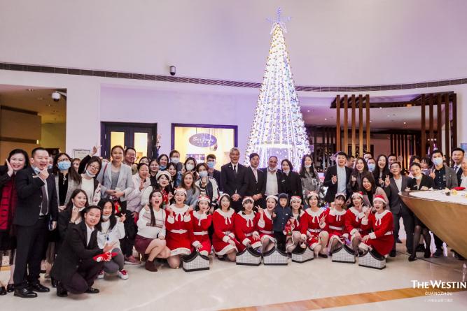广州海航威斯汀酒店圣诞亮灯仪式暨客户答谢鸡尾酒会圆满落幕