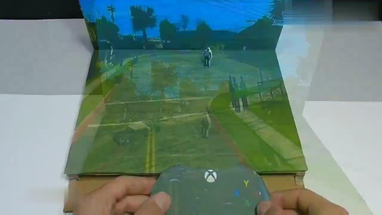 牛人DIY新颖的硬纸板游戏机,玩法真有趣,又学到一招!