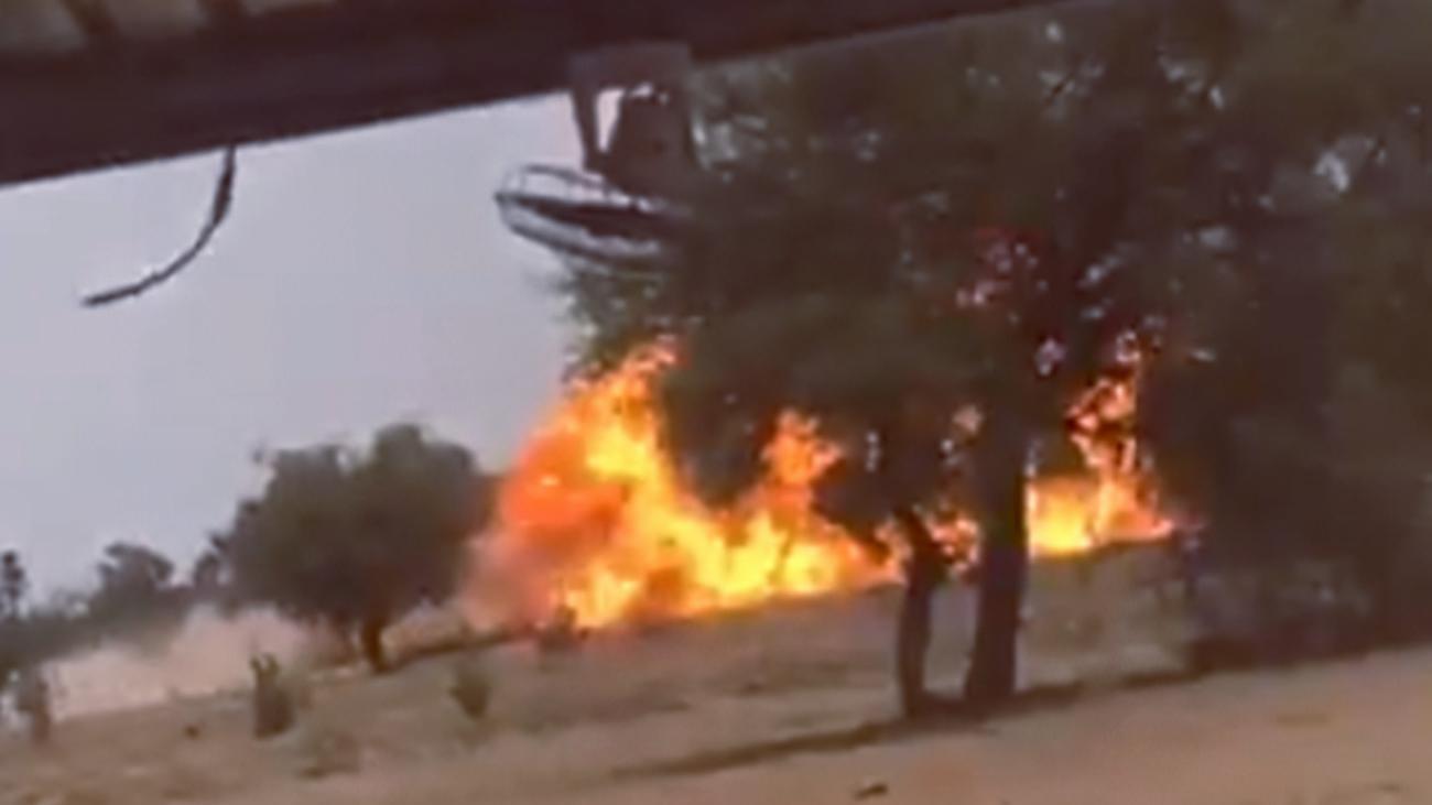 马里超级巨嘴鸟坠落爆炸起火 机上两名飞行员丧生