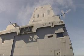 美军DDG1000驱逐舰完成30毫米舰炮测试