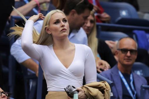 在美国网球公开赛上,冬奥会的第一位美女出现了