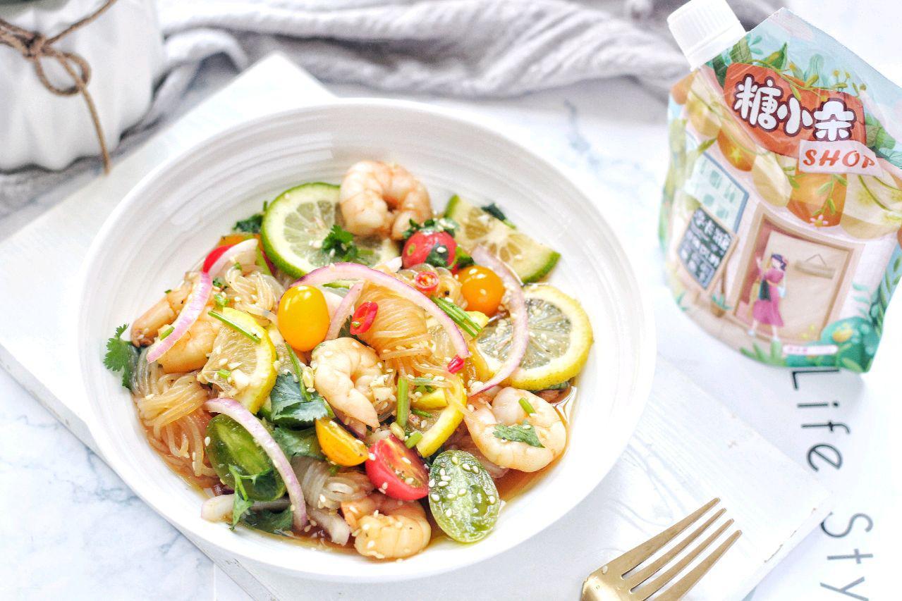 泰式风味,在家用家常食材轻松做,泰式酸辣魔芋虾,上桌抢着吃