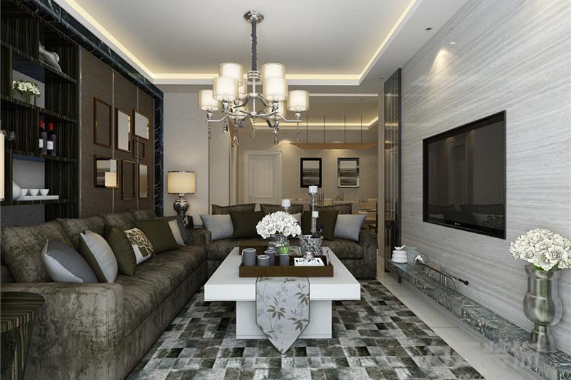 139平米的家,两室两厅简约风,设计很有品位,背景墙真心太赞了