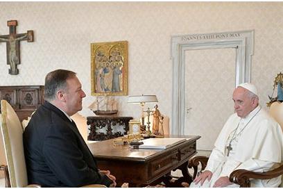 美反对梵蒂冈与中国达成新协议 结果教皇拒了蓬佩奥