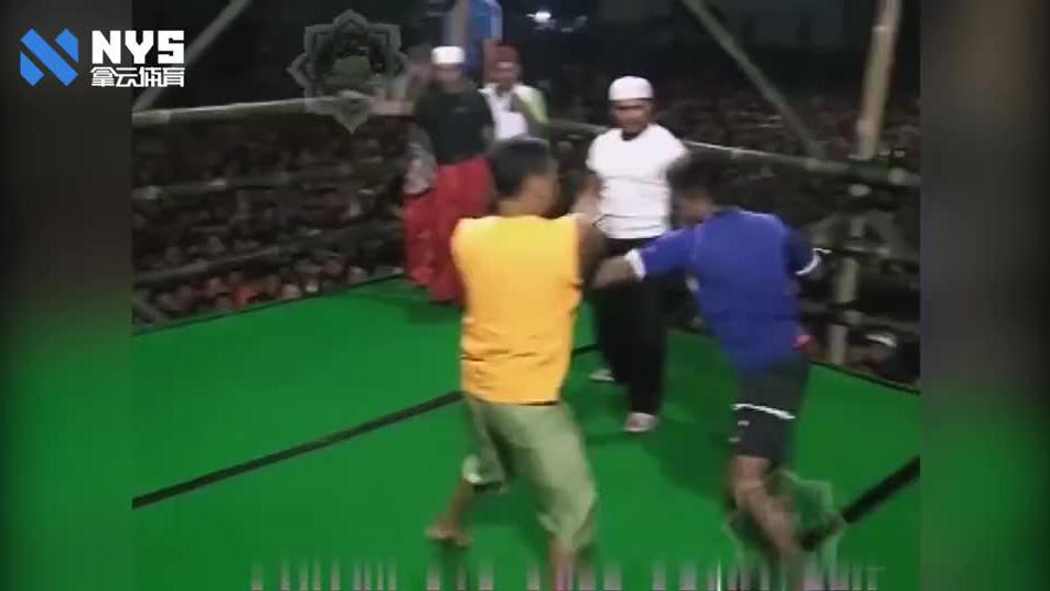 泰国民间格斗赛事不戴拳套狠辣至极,拳拳到肉毫无花招