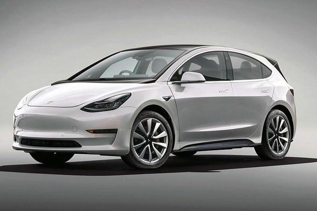 特斯拉全新车型渲染图曝光,定位紧凑级车型