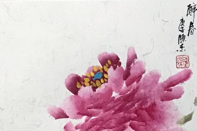 于简练构图中生出新意,画家陈杰的花鸟画,笔墨精炼气韵灵动