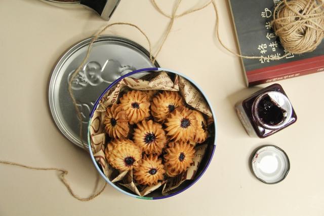 玉米油蓝莓酱曲奇,孩子们的最爱,香脆香甜,味道超级好