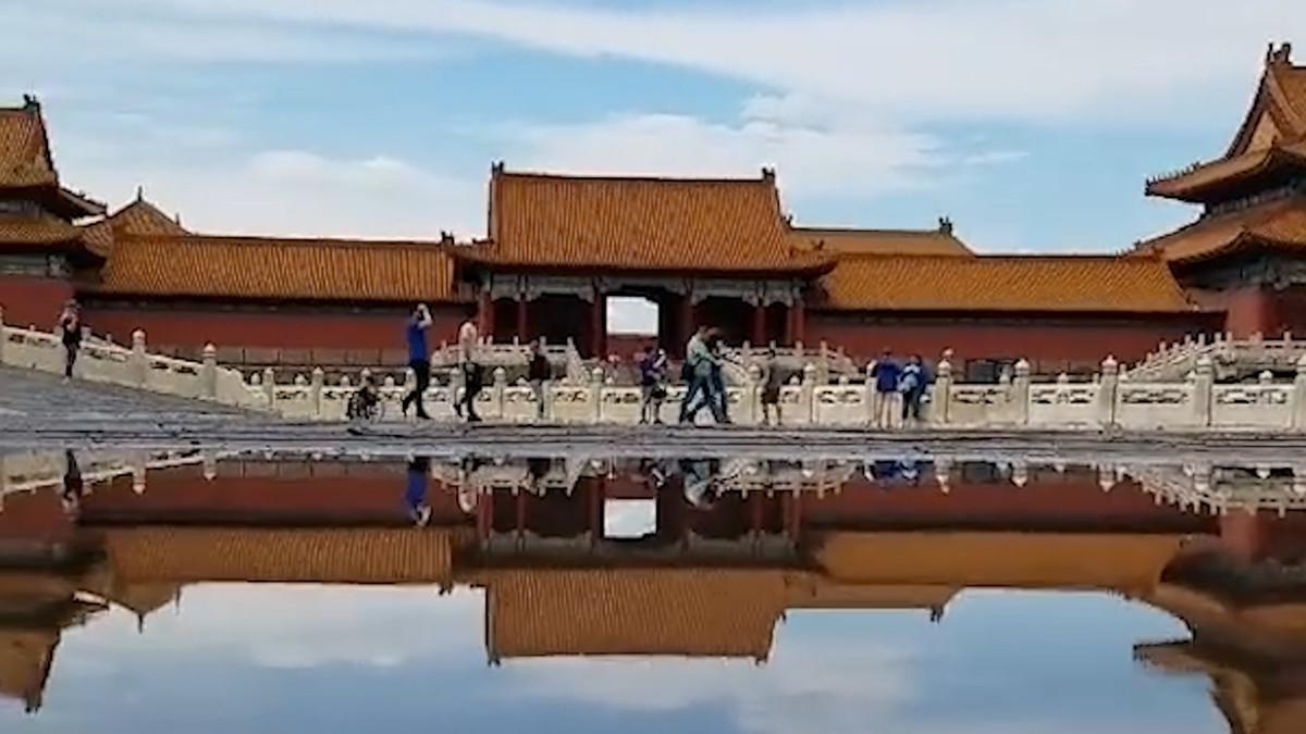 此景只应天上有!雨后的故宫倒映在水中宛如天空之境