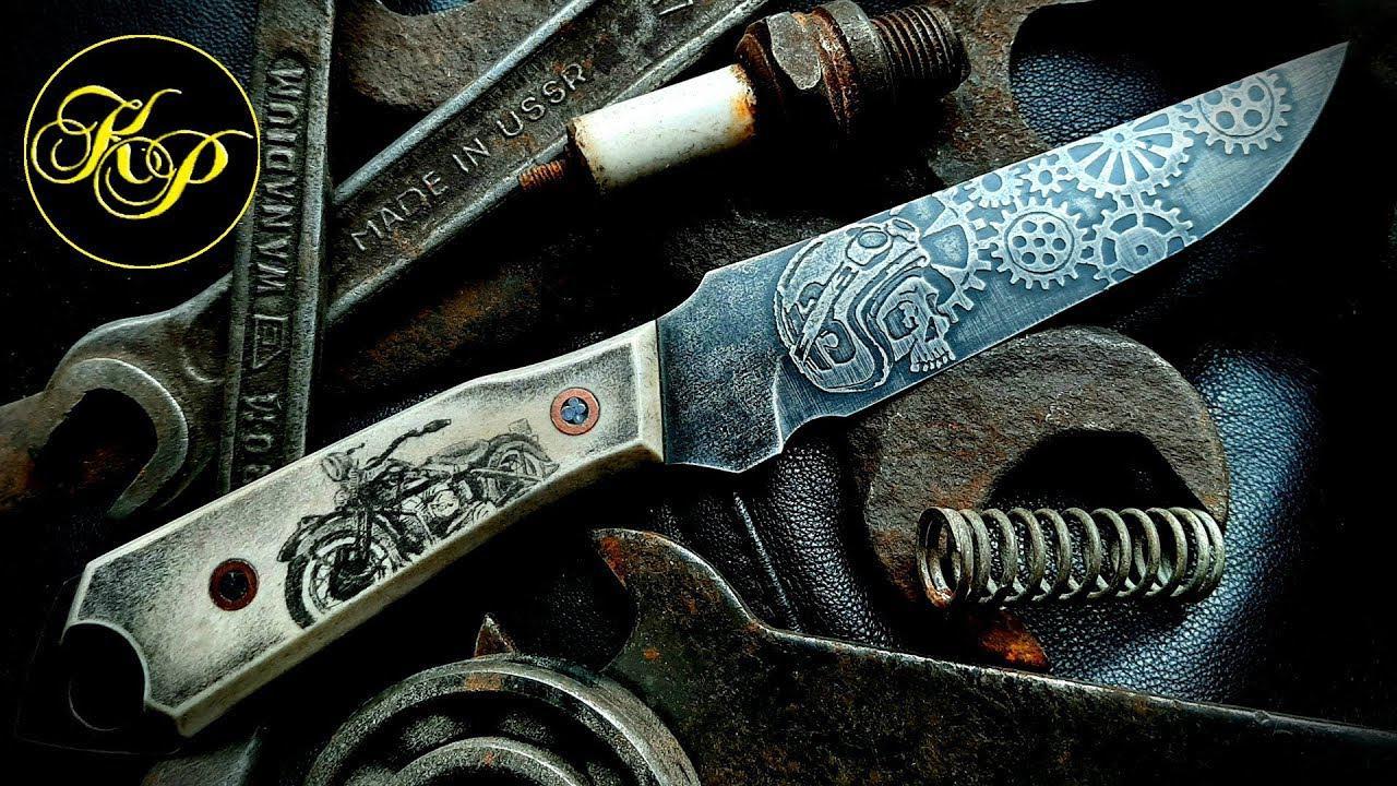 这才叫工匠精神!刀面的纹理细致入微,完美的收藏品