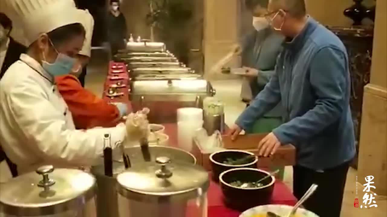 果然视频 山东医疗队在武汉的最后一顿早餐:热干面