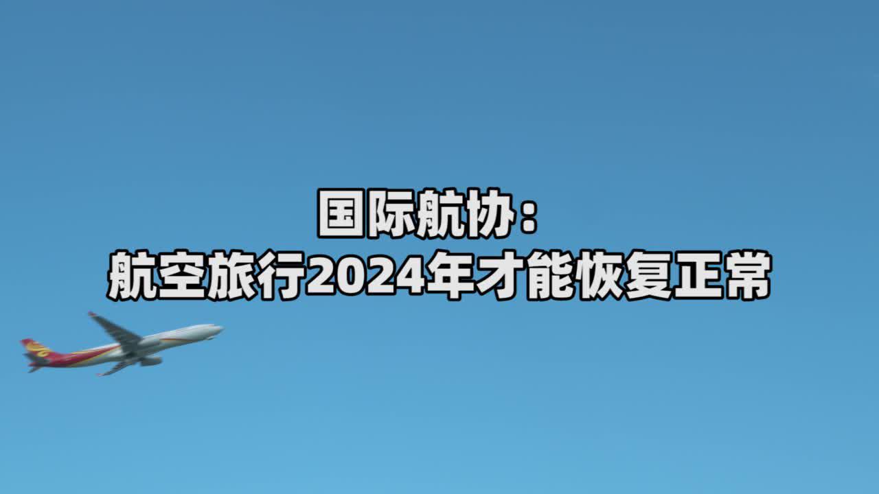 由于疫情对航空运输业产生的影响 航空旅行2024年才能恢复正常