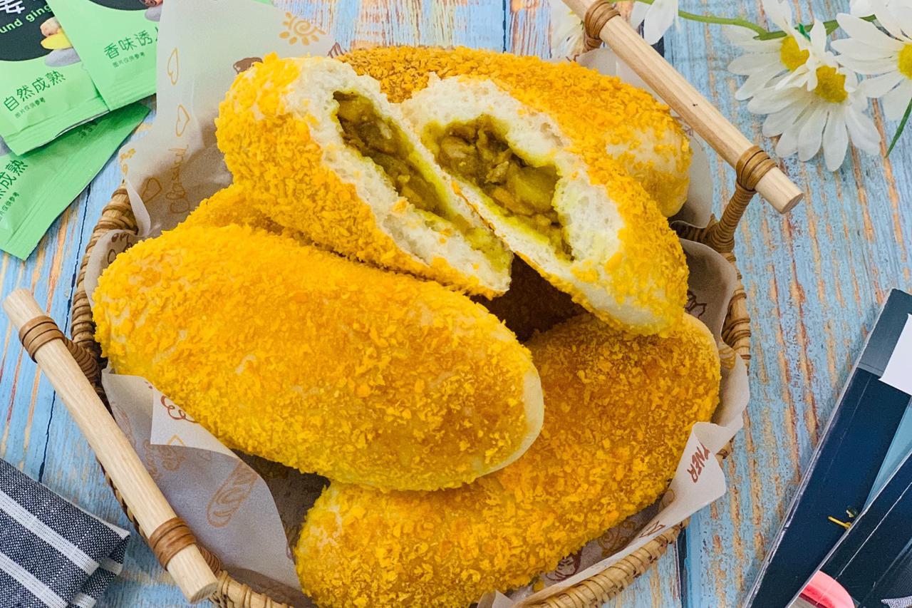 当咖喱鸡肉和面包撞在一起,教你新吃法,咸甜相交,有菜有饭完美