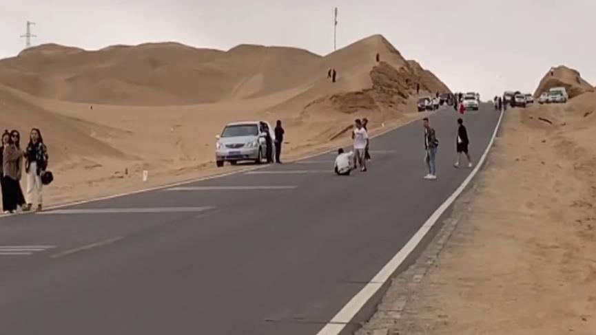 青海网红公路因拍照发生8起交通事故,部分旅客无视安全提示