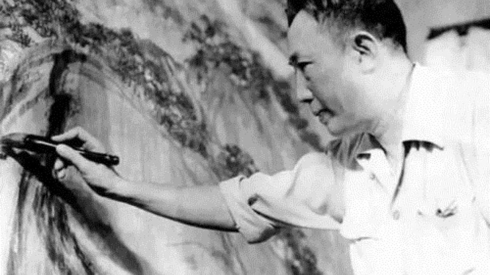 """修伞匠出身的名画家,曾在""""米粒""""上刻324字,画作还被拍出近2亿"""