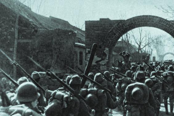 1938年初春日寇进攻河南老照片,每一个镜头都是历史罪证