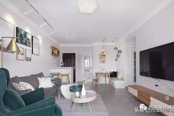 90m²小三室北欧,餐厅卡座,主卧衣帽间,卫生间三分离都有了