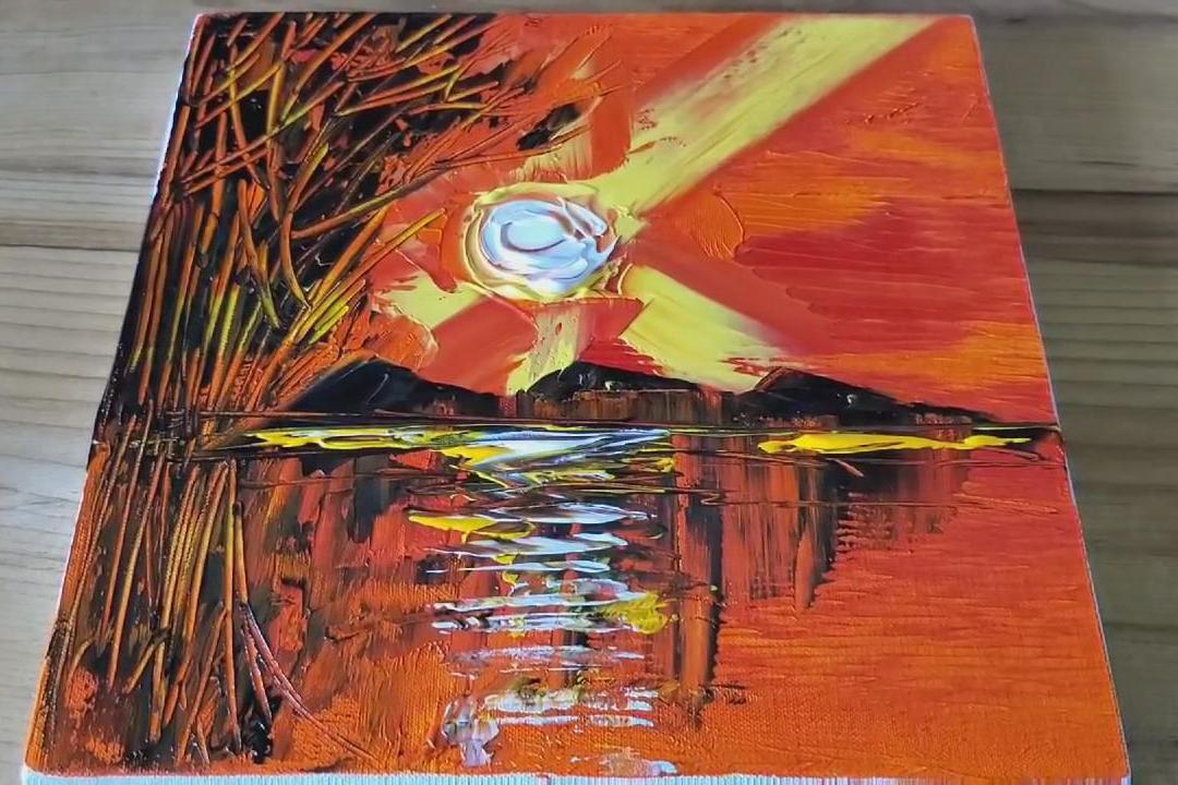 手工绘画作品,带你学习如何制作清晨抽象画!
