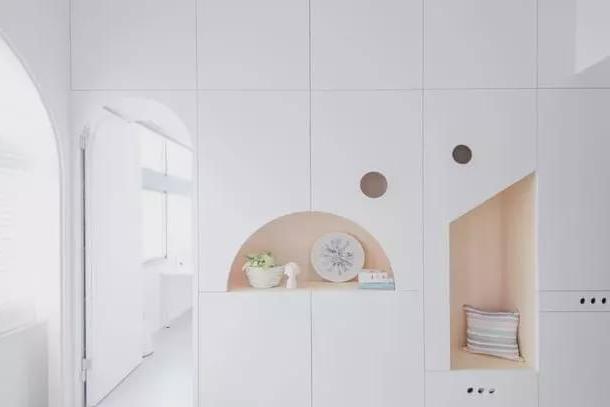 好可爱的小户型公寓,设计师还做了一个隐秘的休闲区,好羡慕呀!