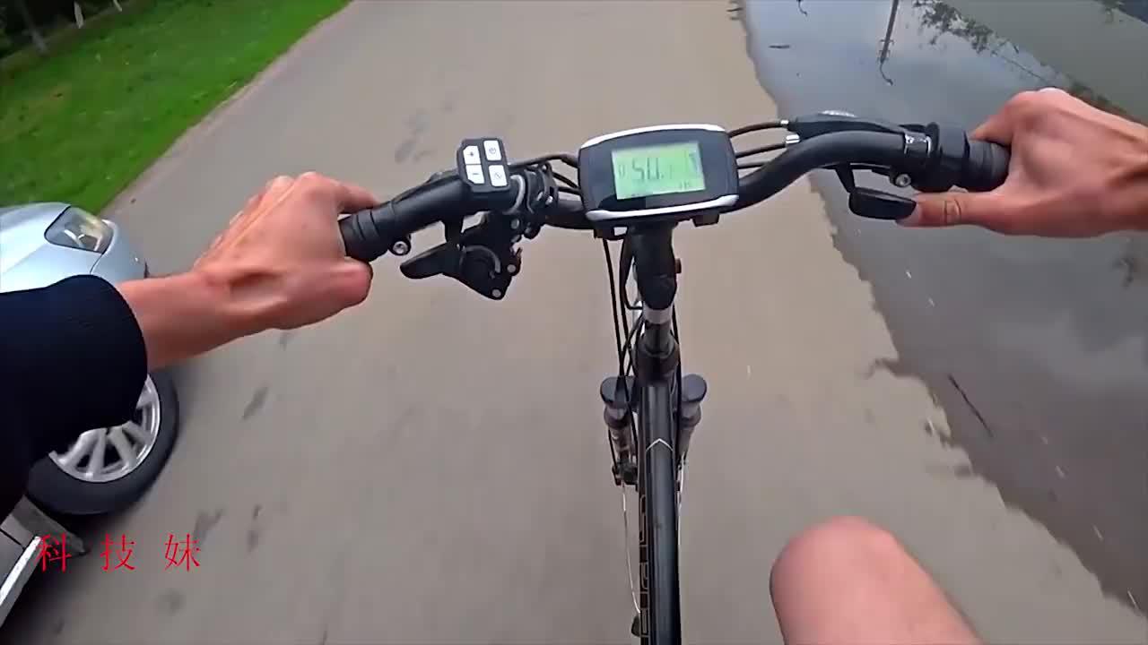 42节电池连在一起,装在电动自行车上,没想到这动力杠杠滴