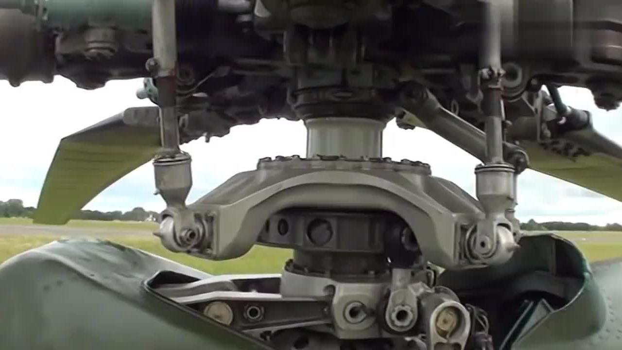 展示米-24直升机螺旋桨细节,恕我直言,就这才叫机械感!
