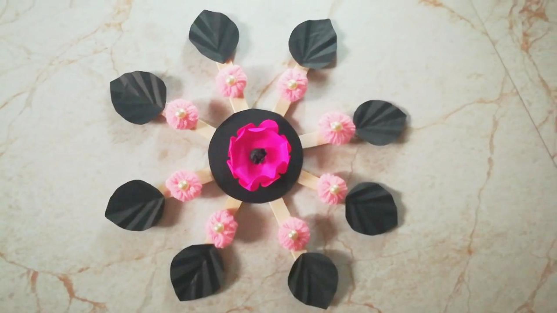 创意手工DIY,一个纸花壁挂的制作方法,非常简单!