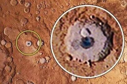 火星陨石坑中有外星基地?有人称在照片上发现了