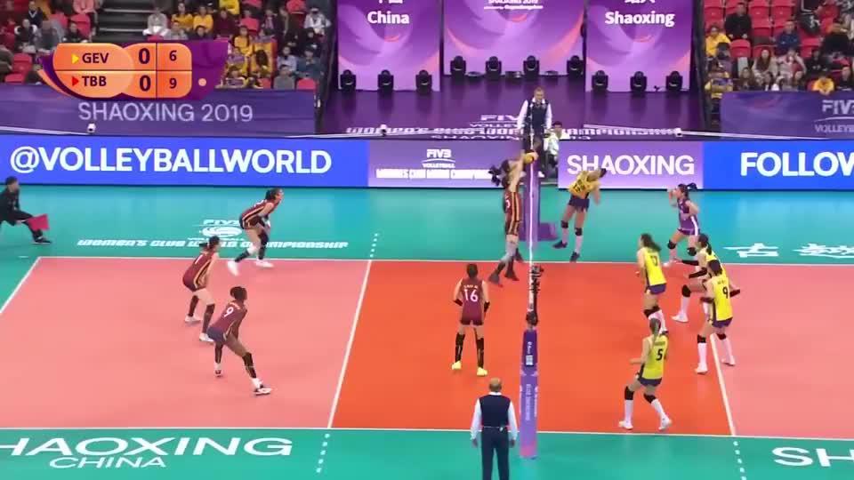 副班长之争,2019女排世俱杯,广东恒大3 0天津HL