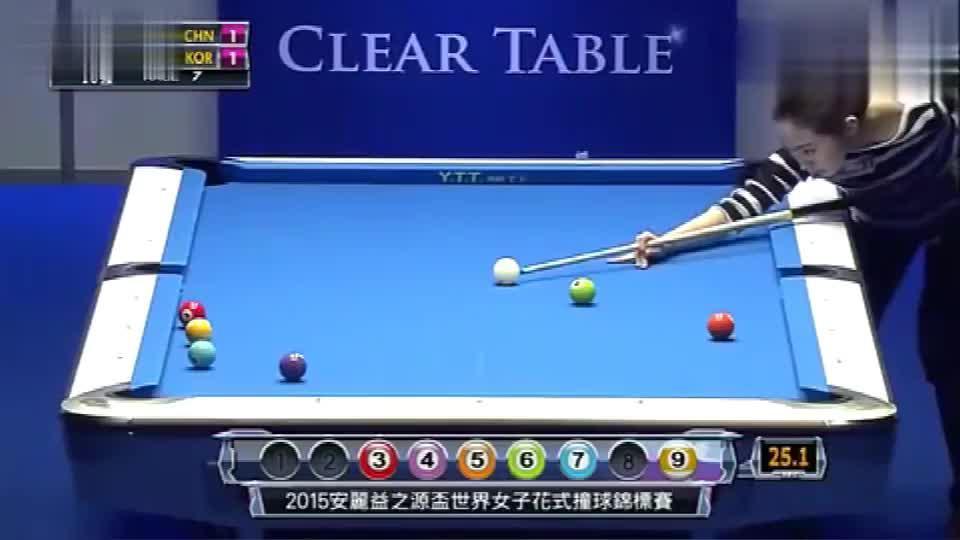 女子桌球,中国队PK韩国队,潘晓婷的球技很完美,终赢得比赛!