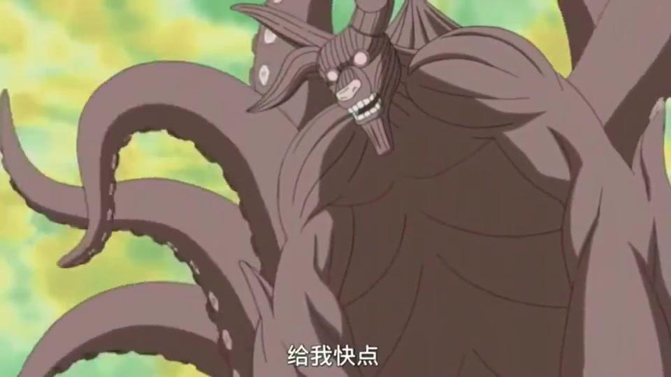 火影忍者:八尾奇拉比教鸣人变尾兽模式,结果鸣人变出来的九尾