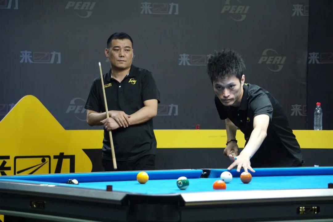 中式台球双打赛,李天恩、刘金柱抱得大奖归