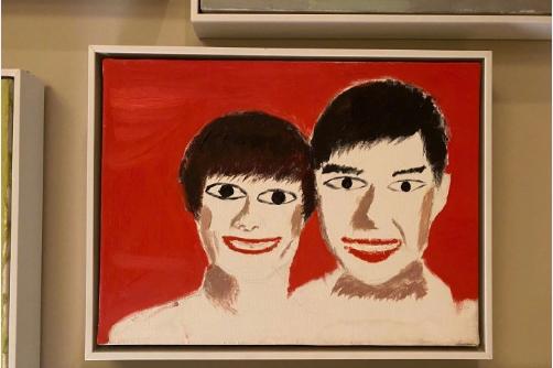 灵魂画手邓超又献丑,手绘涂鸦式结婚照,吓得等等不敢进门