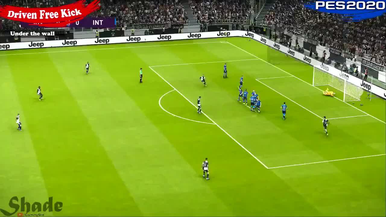 如何?FIFA20与实况足球20任意球破门对比