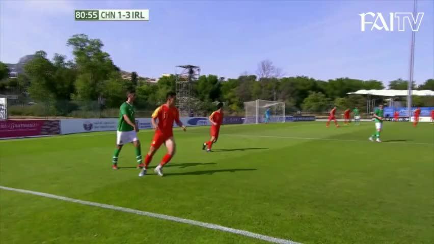 开场丢2球!禁区2送点 国奥土伦杯1-4惨败爱尔兰