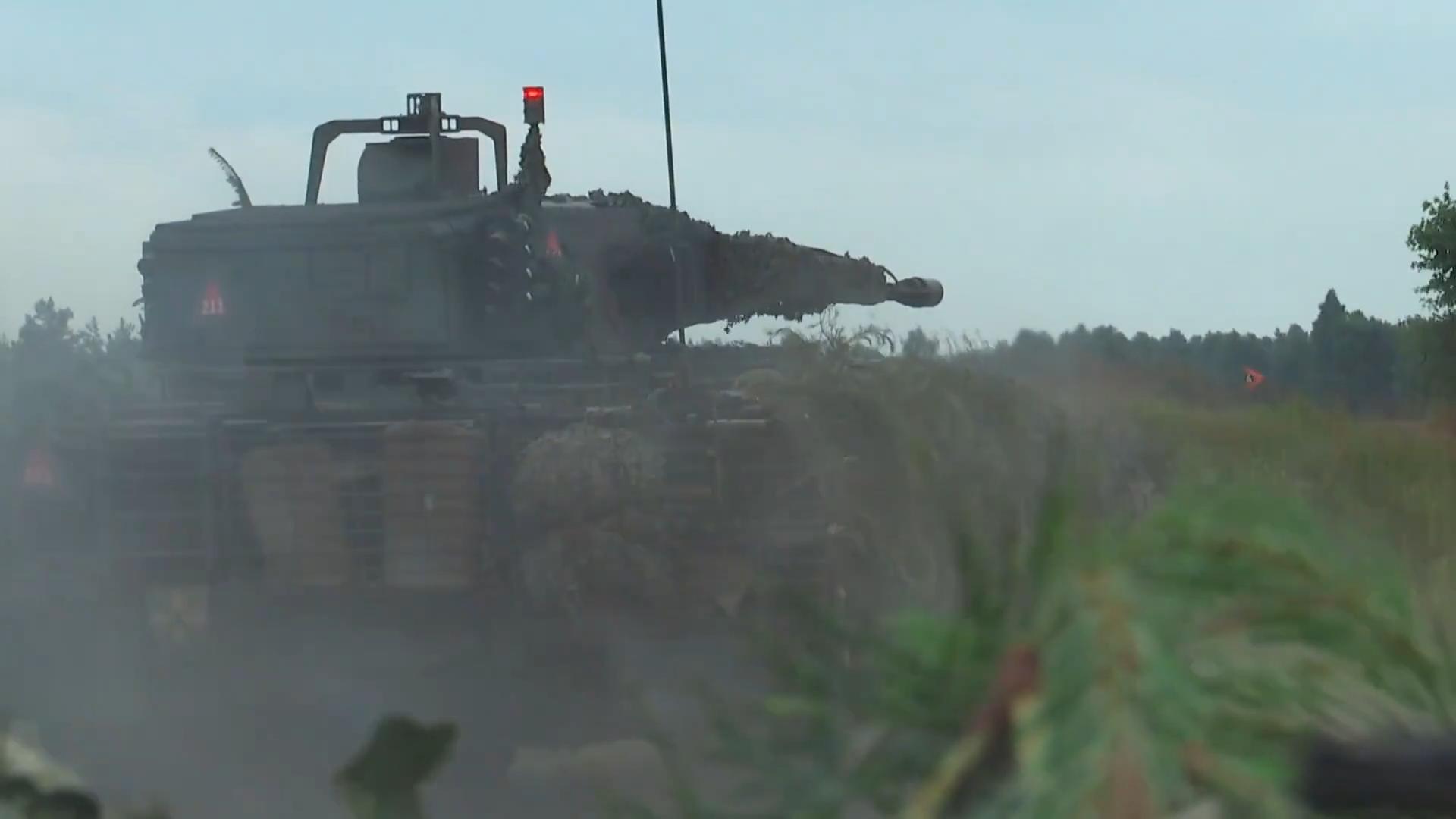 德国陆军步兵装甲单位,进行联合进攻演习的场景!