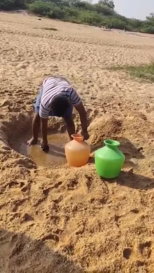 印度水资源缺乏,沙漠人造湖,场面令人惨不忍睹!