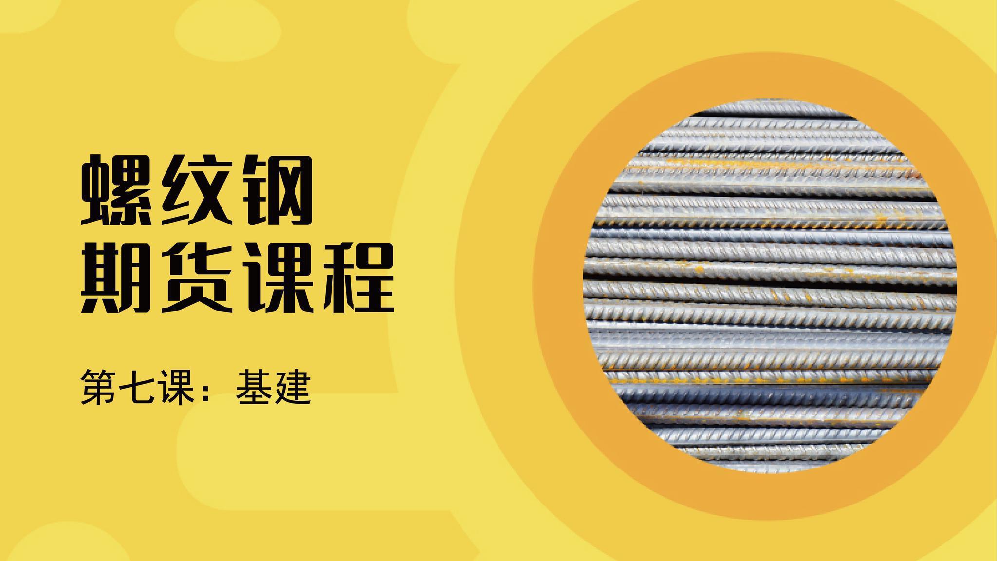 期货课程丨螺纹钢的主要消费市场基建,有哪些供需逻辑需要了解?