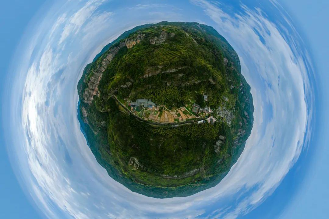 旅途中的航拍全景:乐清,黄檀垌古村