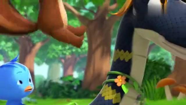 萌鸡小队:高速行驶的蟒蛇火车,在树上行驶,简直就是云霄飞车!