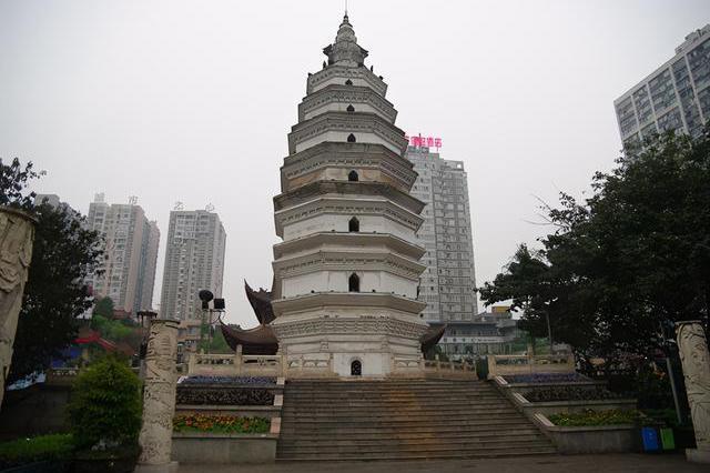 四川古建筑泸州报恩塔——800多年历史重现宋时风貌