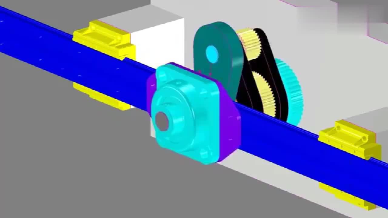 3D动画展示直线运行机制,看看是怎么设计的?