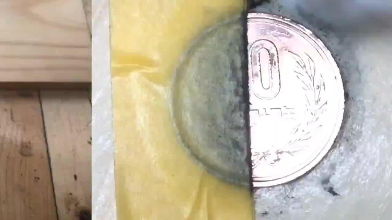 日本小伙翻新一枚硬币,成品亮的晃眼睛,网友:可惜这么好的包浆
