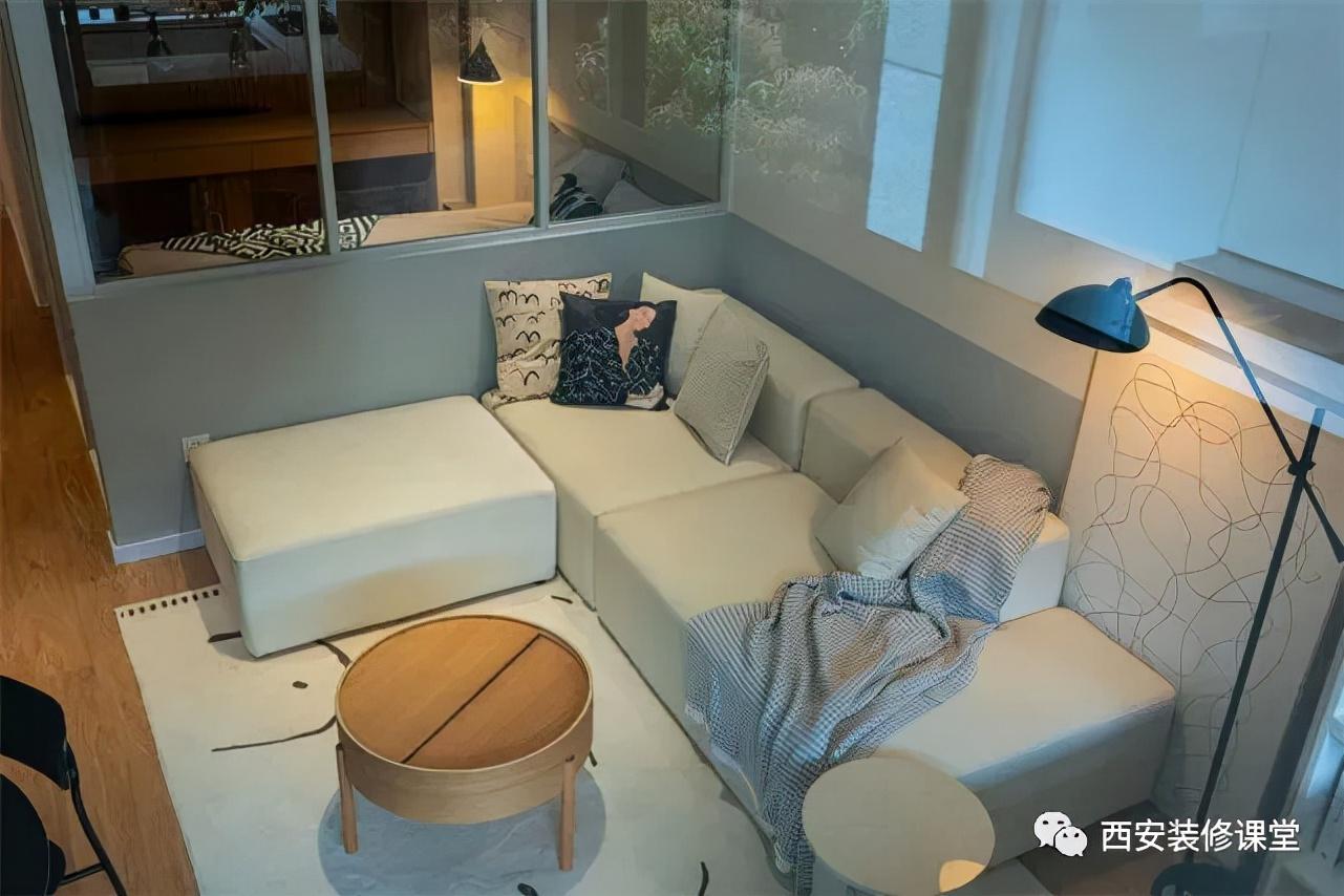 45㎡公寓,实现三室,同时三分离卫生间,客餐厅都有了
