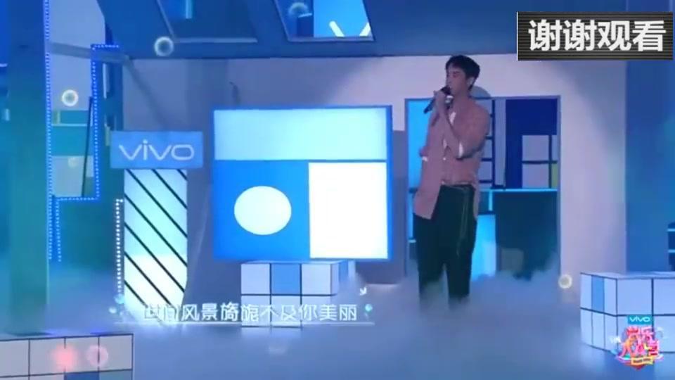 鞠婧祎和梁靖康合唱《心愿涂鸦》,真是太好听了!