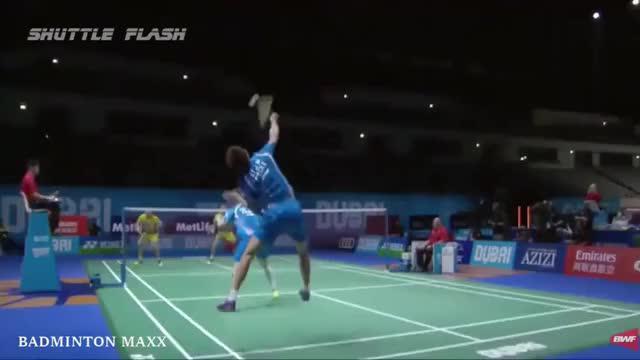 2017年羽毛球25大花式击球各个精彩极致