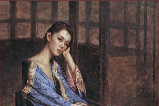 他是写实主义画家,他画中的女孩充满诗意与古典风情之美