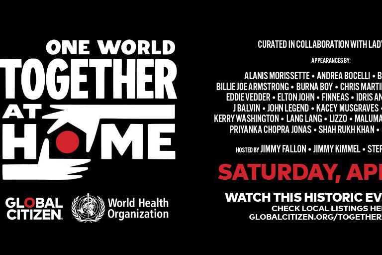 Lady Gaga等众星与WHO合作举行慈善音乐会,感谢抗疫医护英雄们