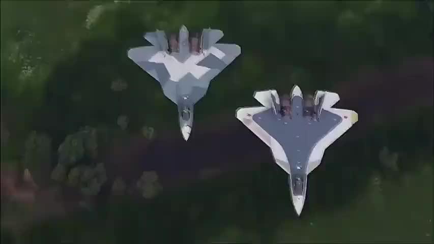 快看,俄罗斯第五代隐身战机苏-57在空中玩杂耍和射导弹啦