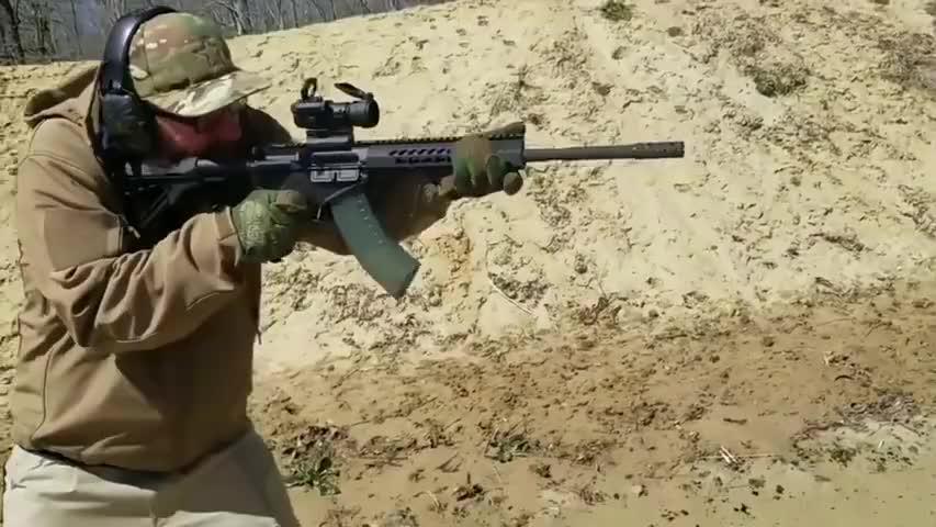 极少人知道的基利波M43步枪,配备瞄准镜靶场实弹射击测试